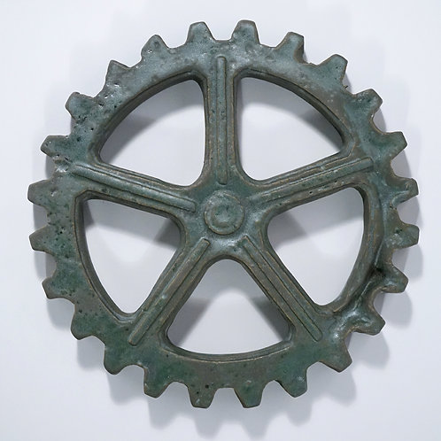 Ramsbottom gear with green patina finish