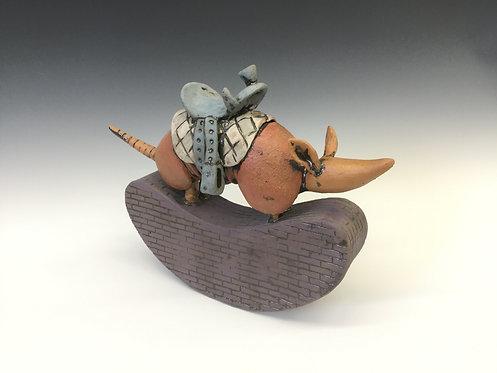 Rocking Armadillo with saddle