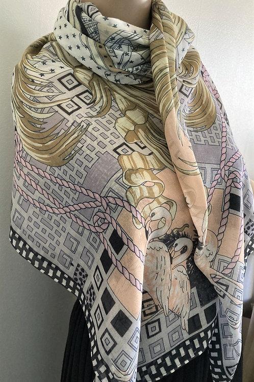 Echarpe Femme Motif Marin