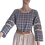 Thumbnail: Blouse Femme à carreaux en 100% coton. Esprit vintage
