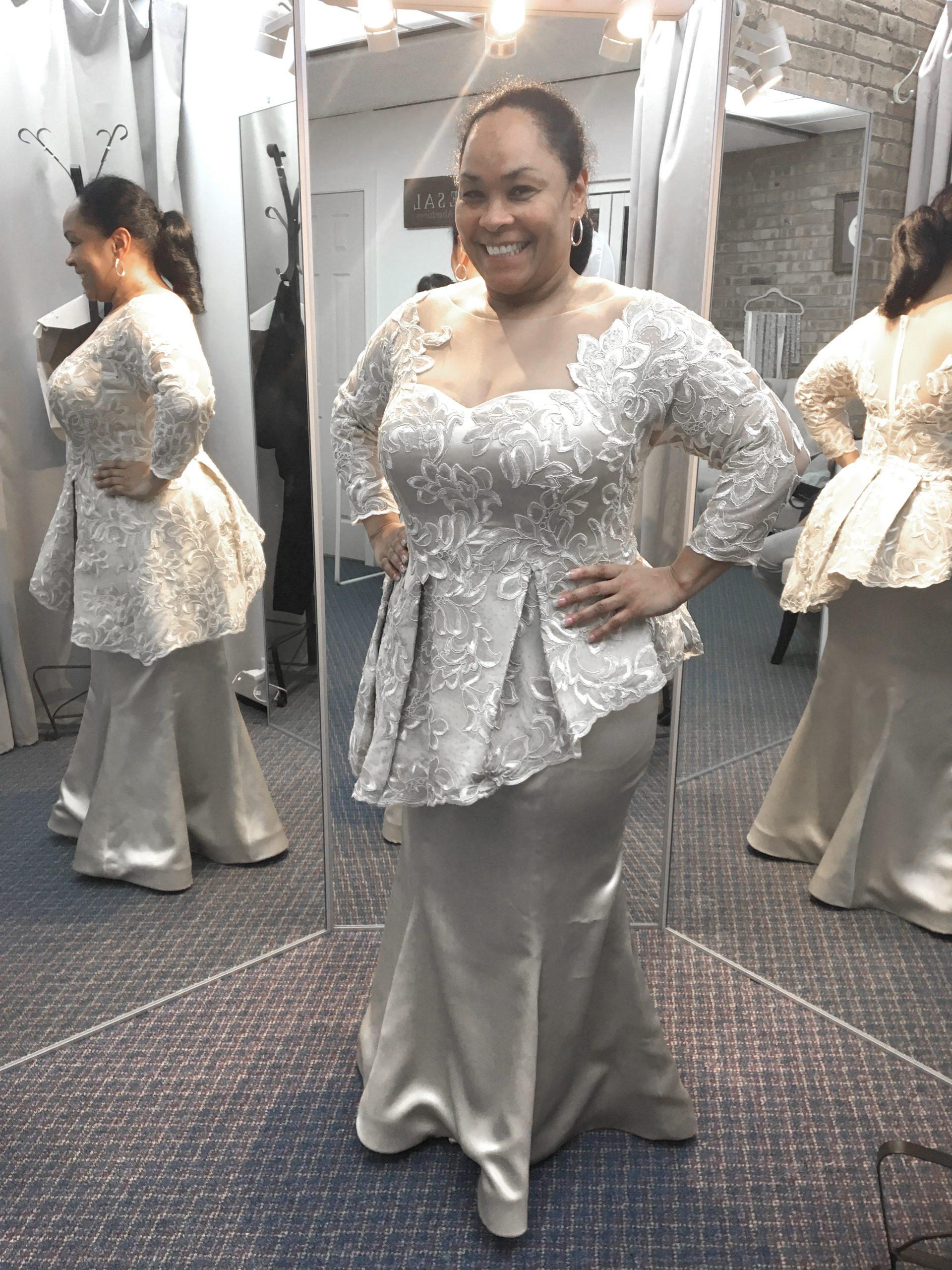 custom mother of the bride groom dressg