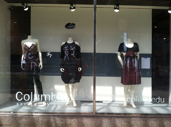 """Senior Thesis Collection, """"Body Couture"""" displayed at Columbia College Chicago on Wabash Avenue in 2012"""