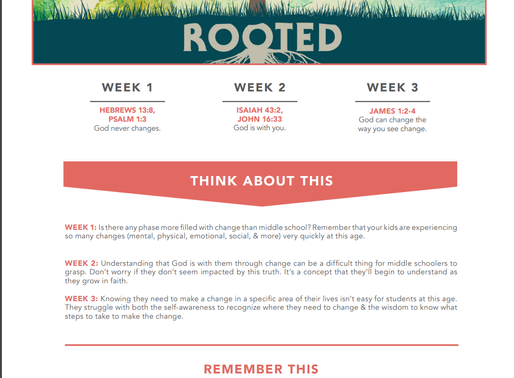 Middle School Rooted Parent Cue