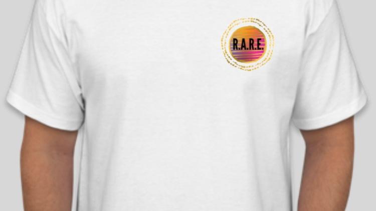 R.A.R.E. Logo White T-Shirt