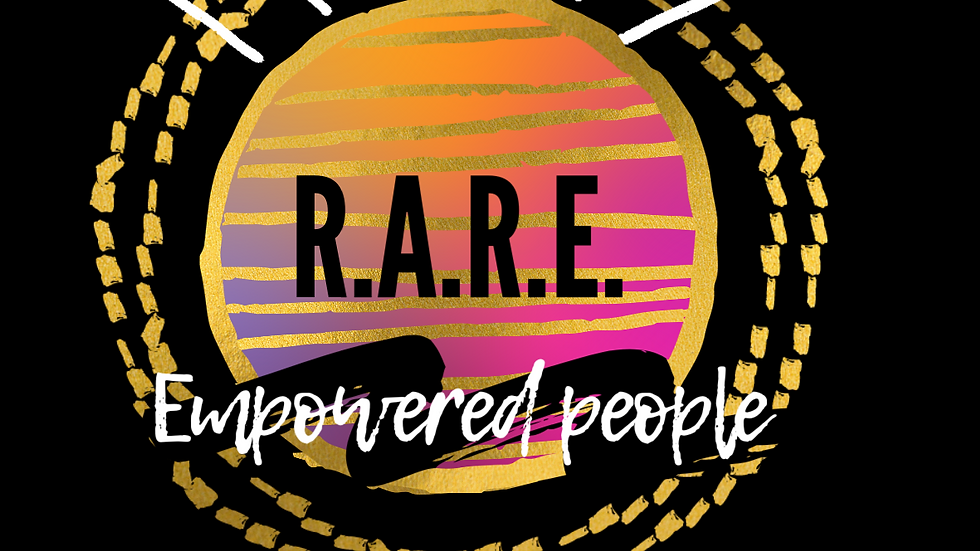 R.A.R.E. Empowered People Empower People Square Sticker