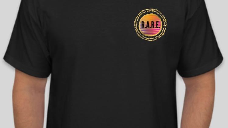 R.A.R.E. Logo Black T-Shirt