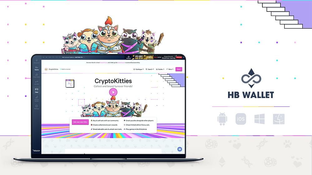 Cryptokitties is available on HB Wallet!