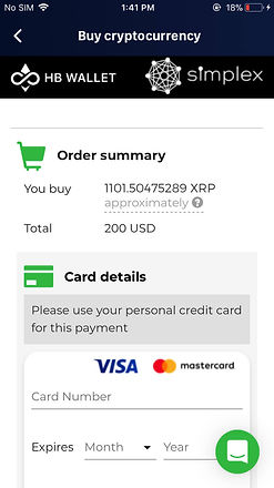 buy xrp with credit card hb wallet simplex