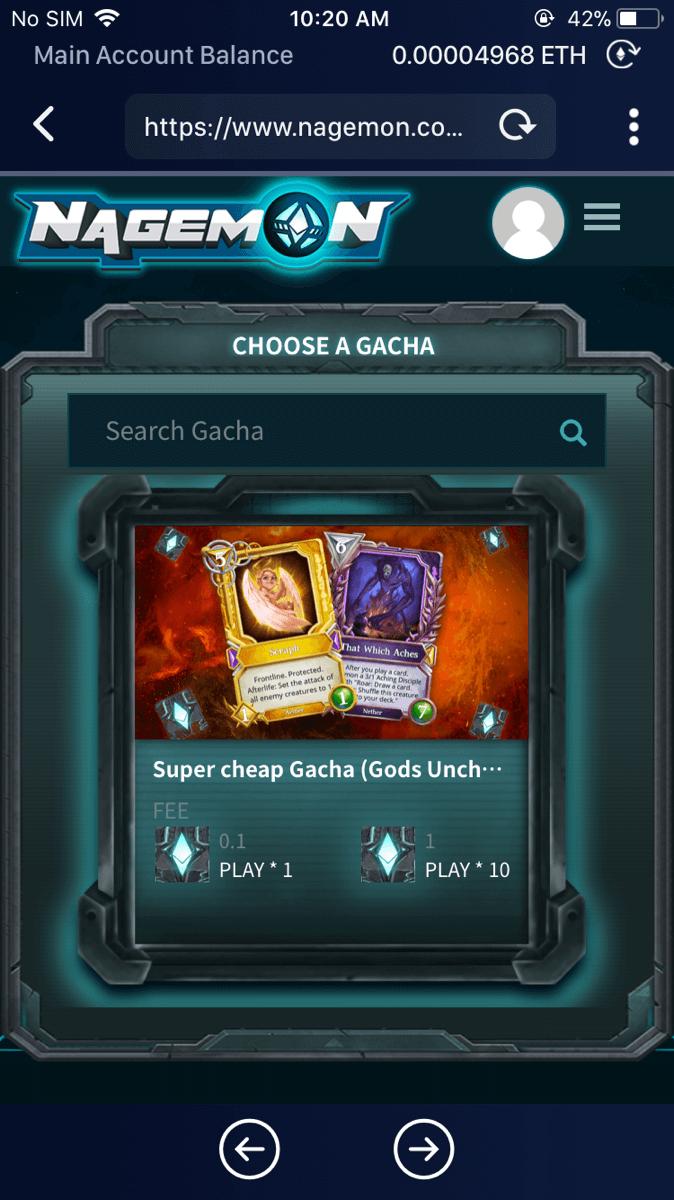 Super cheap Gacha (Gods Unchained)