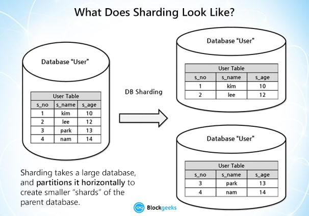 How Sharding looks like (Image: Blockgeeks)