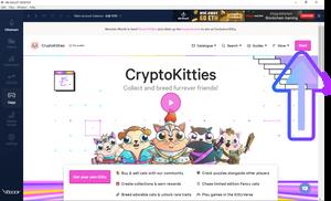 Create Cryptokitties account on HB Wallet