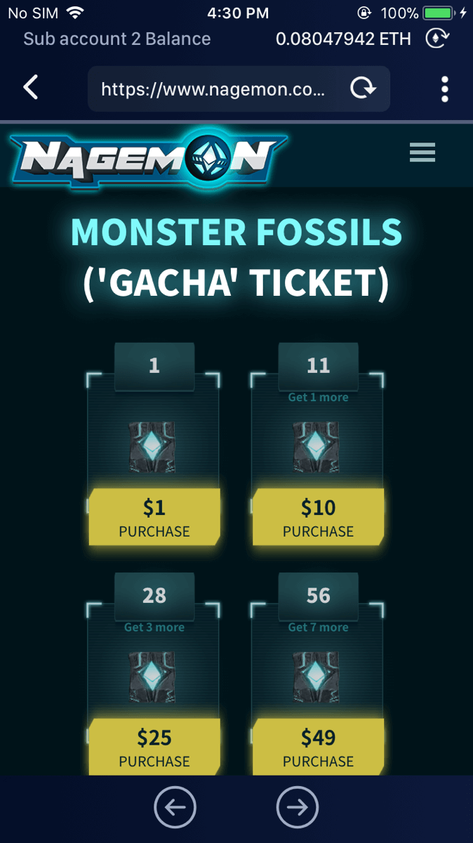 You can buy Monster Fossils from Nagemon