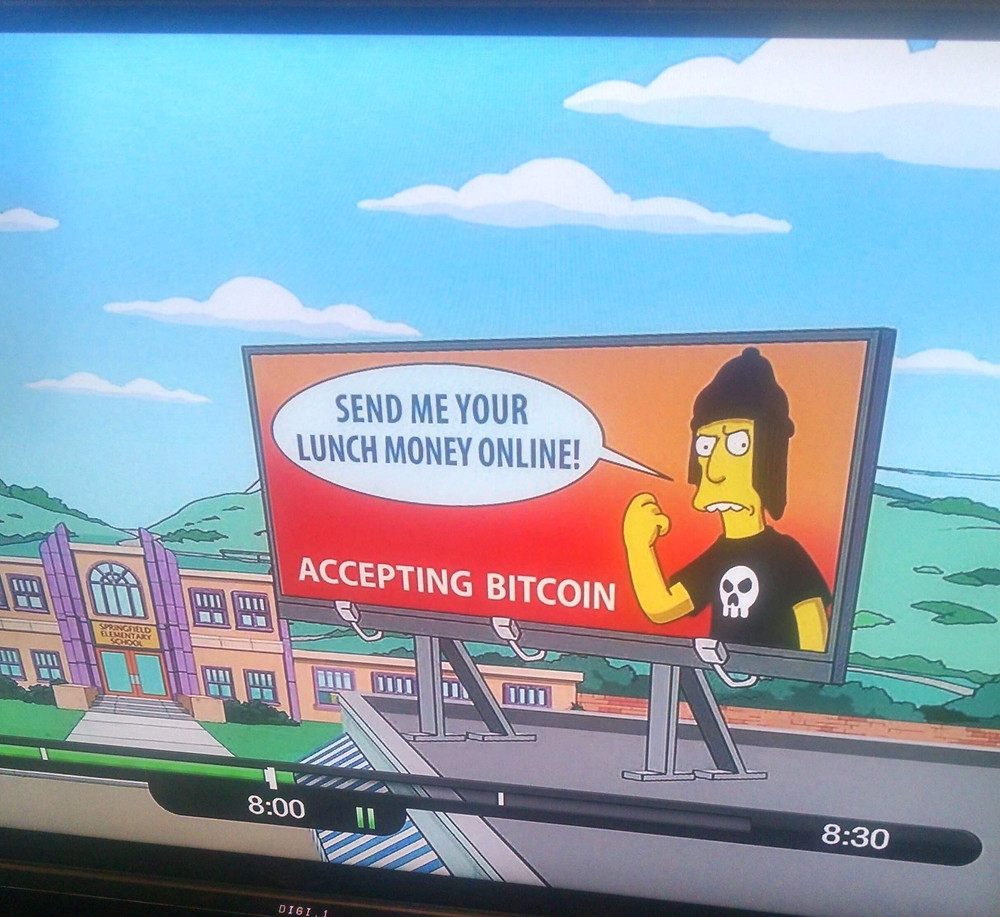 Bitcoin made a shout-out on the Simpsons (Image: CNN)