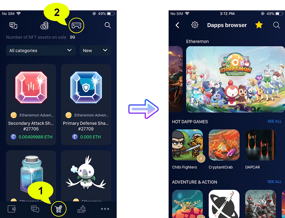 How to access ETHEREMON from your mobile device