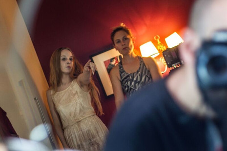 Behind the scenes with Emily and Dagmar