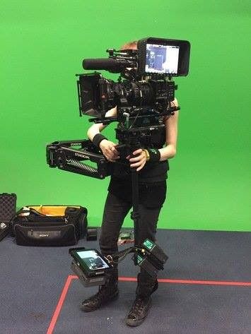 Checking the steadicam