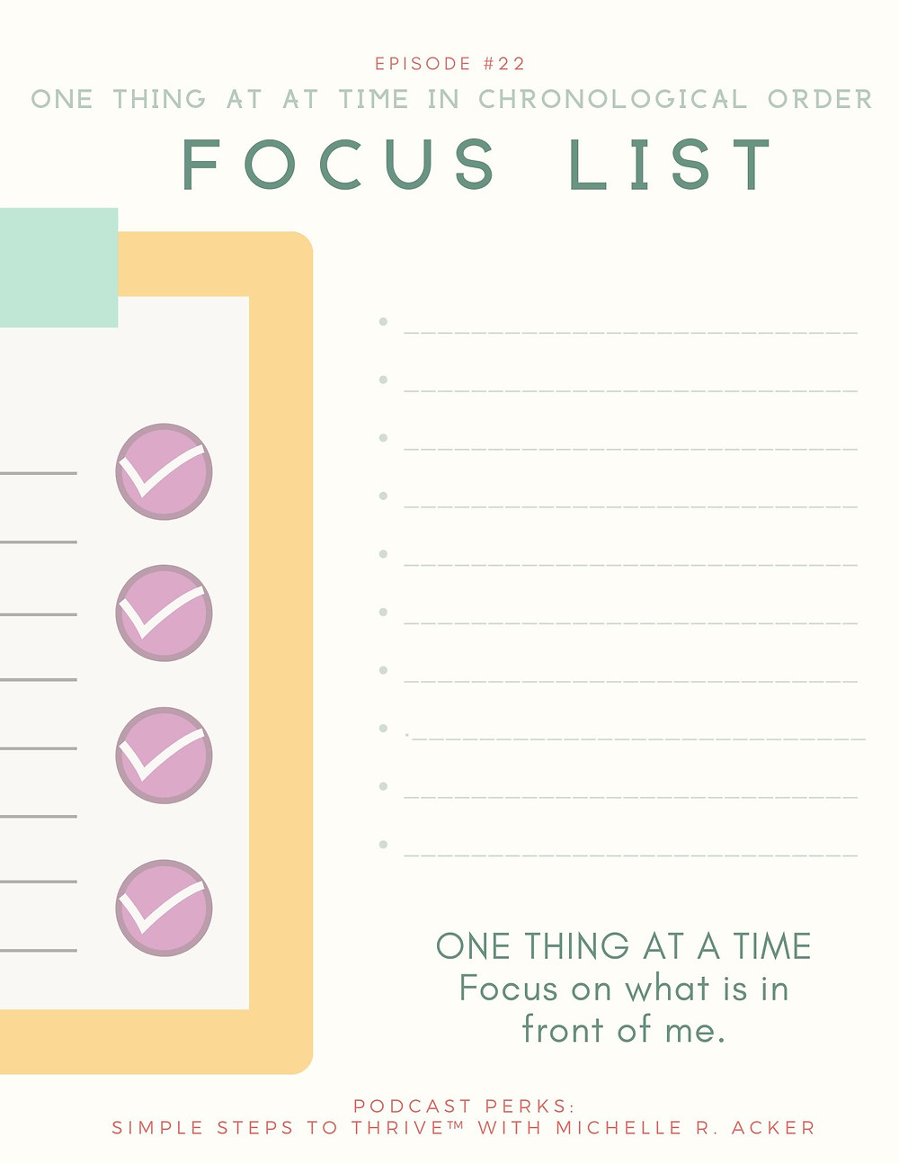 Focus List: Face down FOMO and focus on what matters most to you