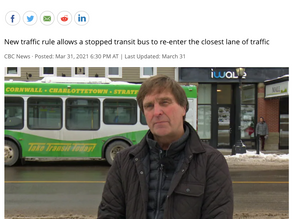 New yield-to-bus rule in effect on P.E.I.