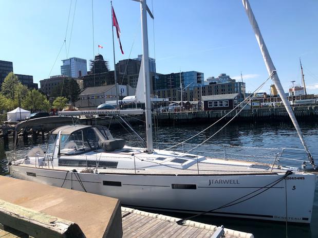 J Farwell at dock in Halifax