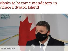 Masks Now Mandatory in PEI