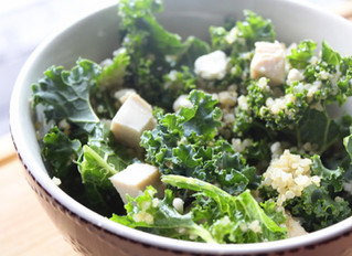 Chicken Kale Quinoa Bowl