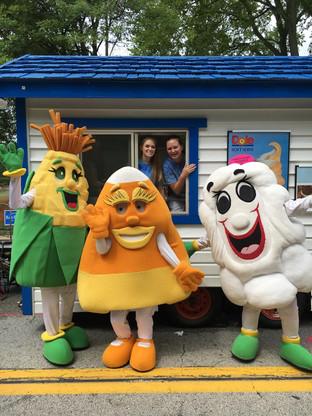 The Corn Festival Mascots love Dairy Grove!