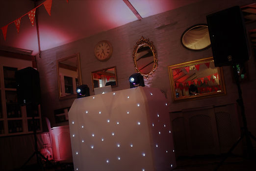 Wedding Disco set up