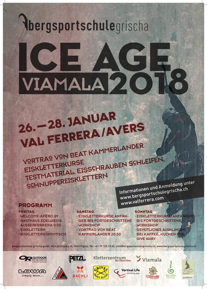 3rd Eiskletterstammtisch - 1st ICE AGE Viamala 2018