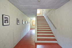 Corridor with old images of Ferrera