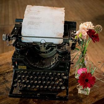 Gedicht in nostalgische typemachine
