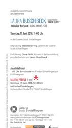 Galerie Stadt Sindelfingen Einladungskarte 2018