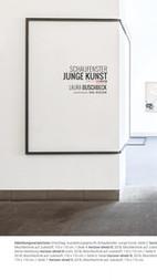 Leporello (Außenseite) zur Ausstellung Laura Buschbeck - peculiar horizon