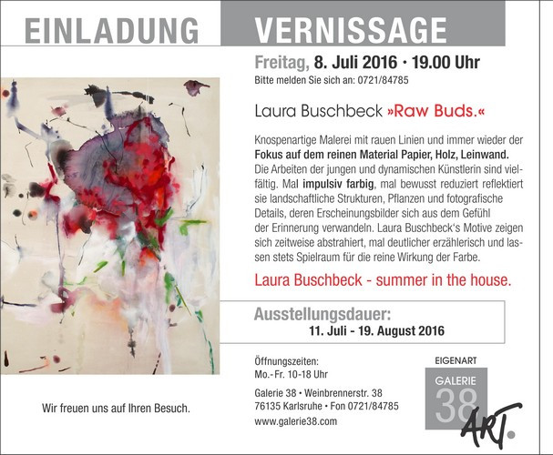 Laura Buschbeck | raw buds 11.7. - 19.8.16