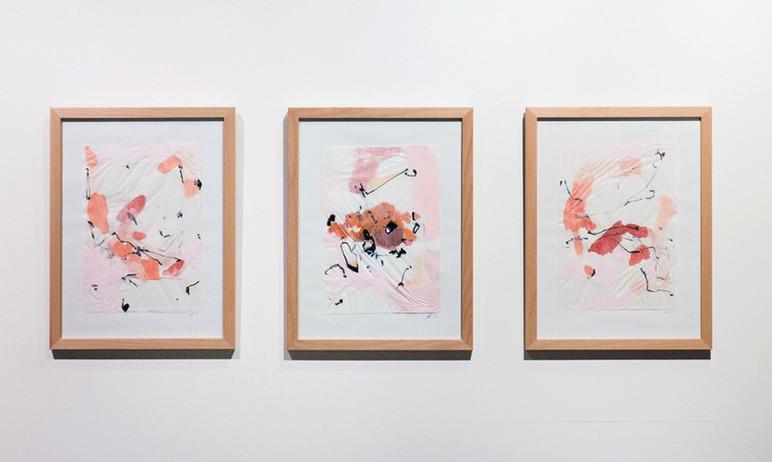 An Orange Spot I-III, 2018 Ausstellungsansicht
