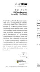 BILDRÄUME - RAUMBILDER | Einladungskarte der Kunsthalle Cloppenburg