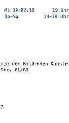 Einladung Diplom Rundgang 2016
