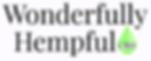 Best Wonderfully Hempful Logo with CBD i