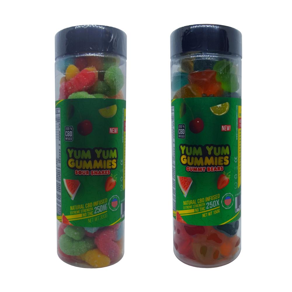250mg Full Spectrum (THC Free) Yum Yum CBD Infused Gummies