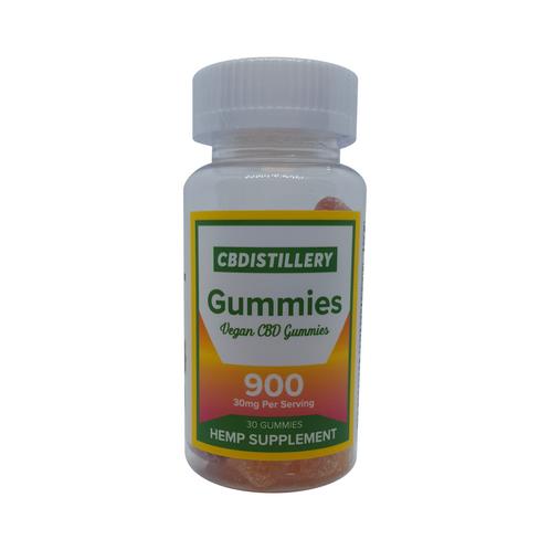 30mg THC FREE CBD Gummies (900mg Bottle)