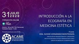 WEBINAR INTRODUCCIÓN A LA ECOGRAFÍA EN MEDICINA ESTÉTICA