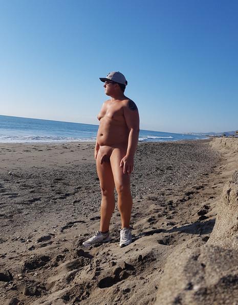 On the beach at Vera Playa
