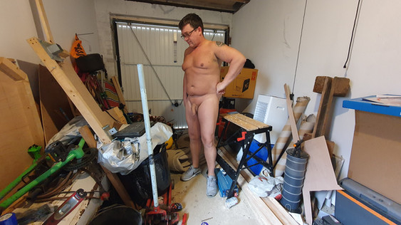 working in the garage