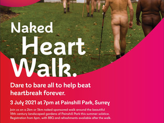 Naked Heart Walk for charity