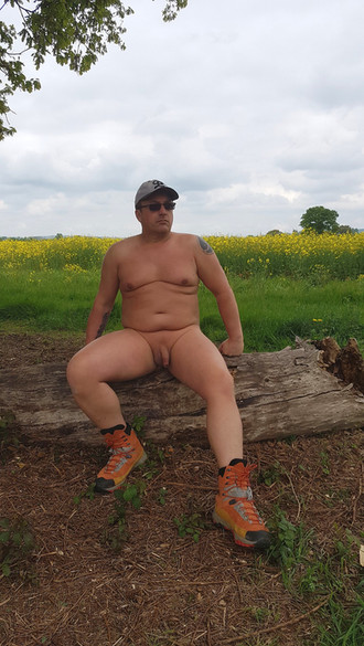 Sat relaxing on another walk