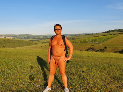 A lovely naturist walk on the hills