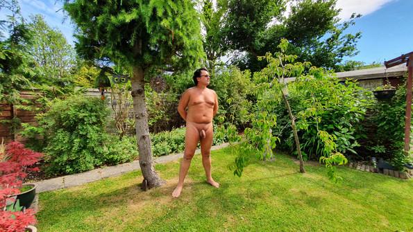 Nude in a garden