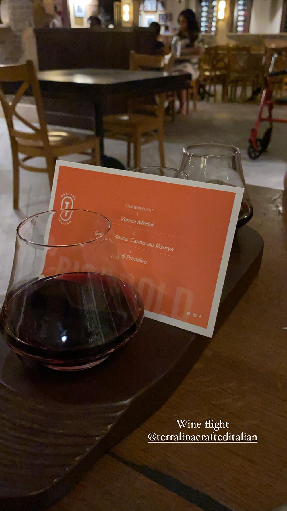 Big & bold wine flight