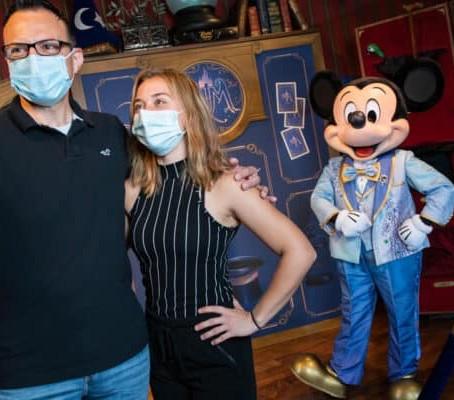 O encontro com os personagens da Disney voltarão em breve