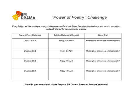 """Power of Poetry"" Challenge"
