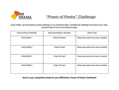 """""""Power of Poetry"""" Challenge"""